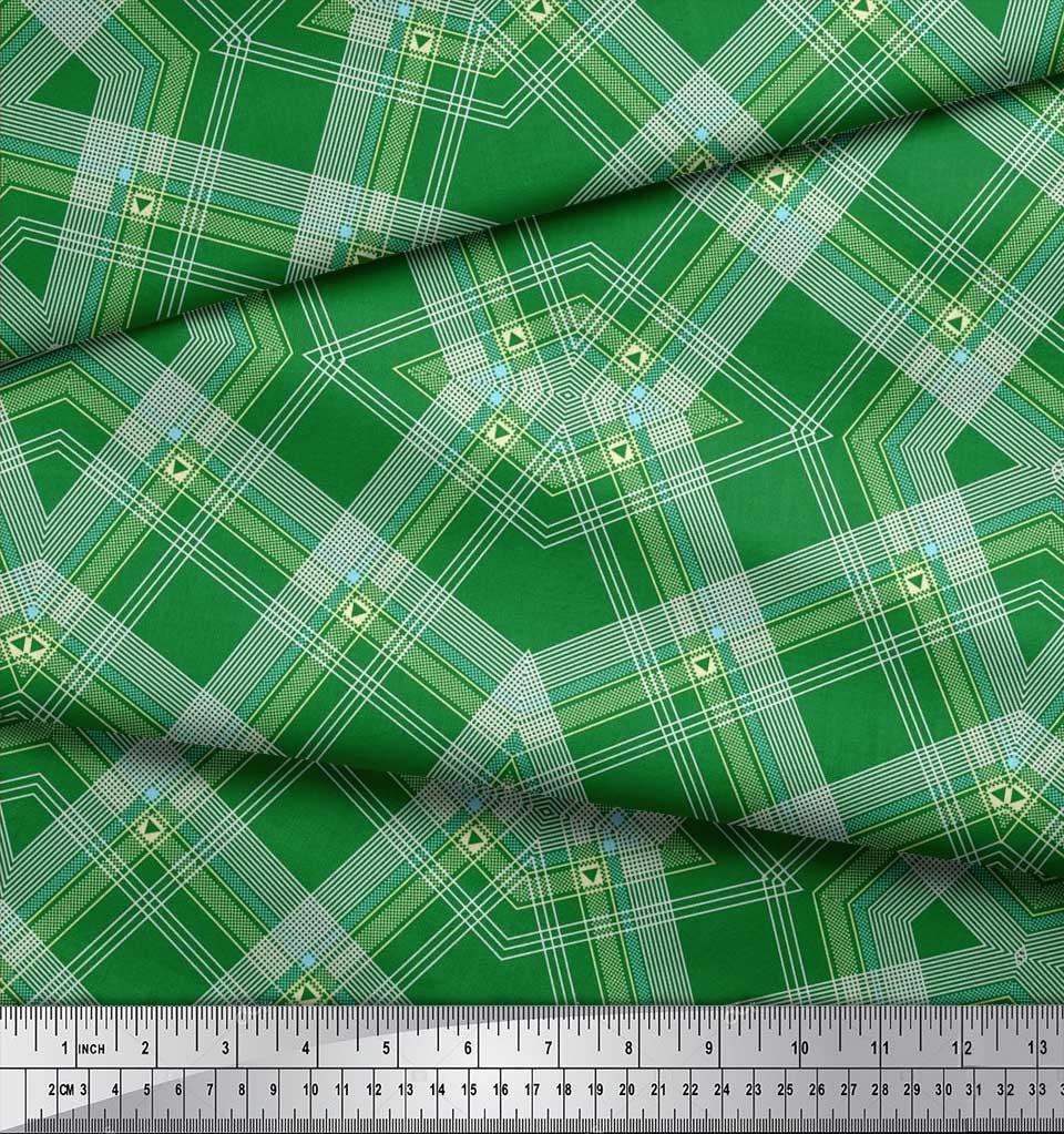 Soimoi-Cotton-Poplin-Fabric-Gingham-Check-Print-Fabric-by-the-metre-AdJ thumbnail 4