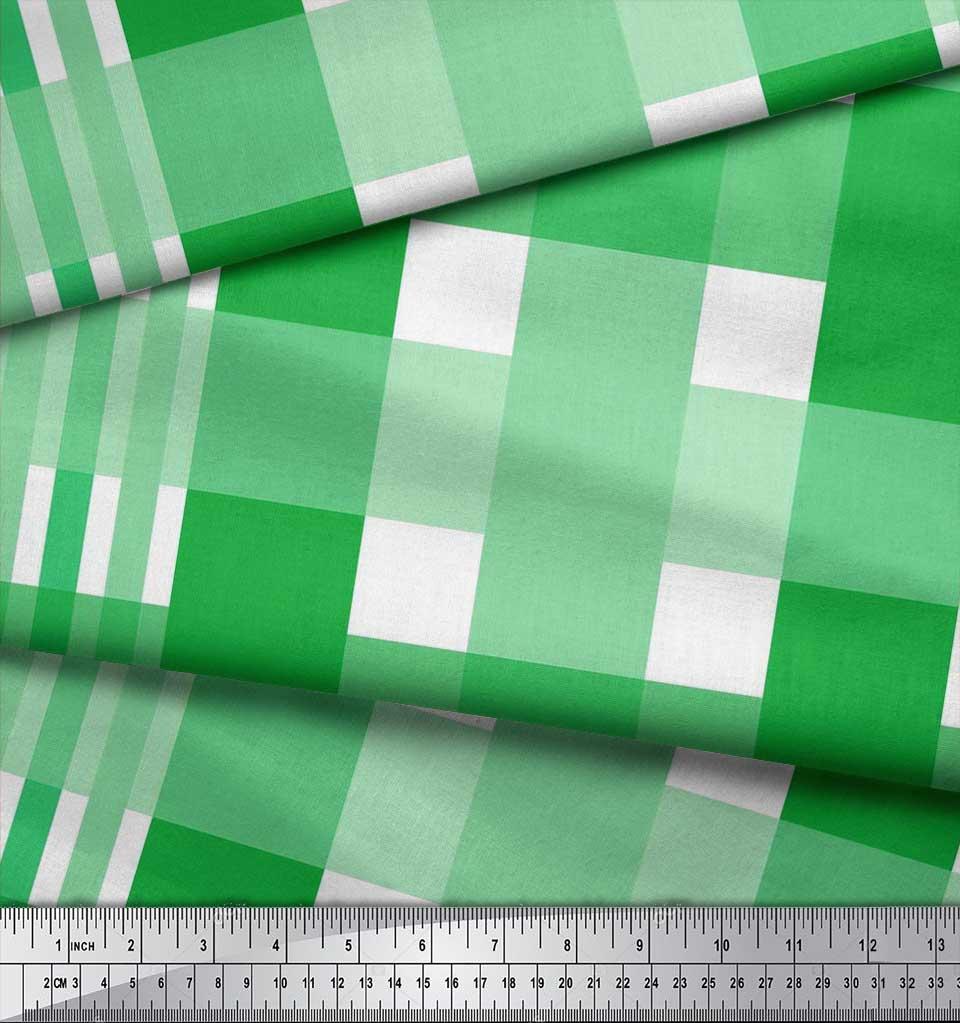 Soimoi-Cotton-Poplin-Fabric-Gingham-Check-Printed-Craft-Fabric-by-aDt thumbnail 3