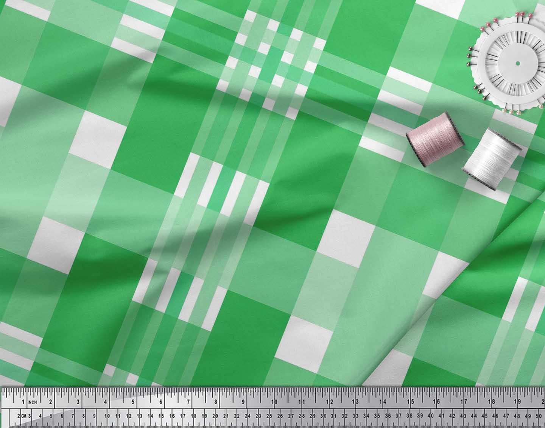 Soimoi-Cotton-Poplin-Fabric-Gingham-Check-Printed-Craft-Fabric-by-aDt thumbnail 4