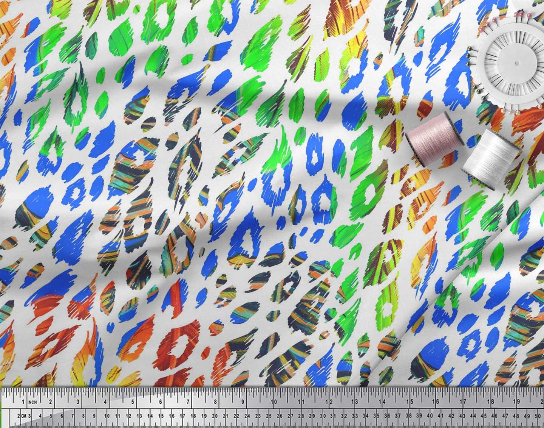 Soimoi-Cotton-Poplin-Fabric-Leopard-Animal-Skin-Decor-Fabric-Printed-TYC thumbnail 4