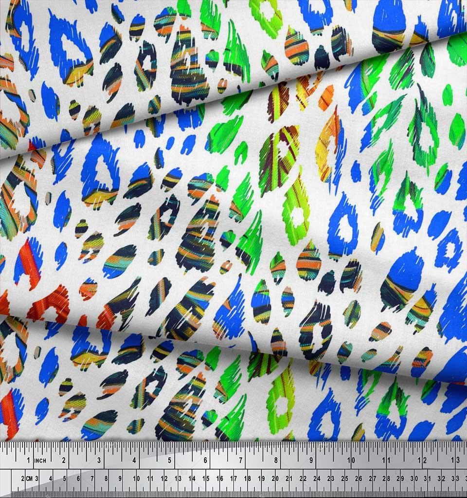 Soimoi-Cotton-Poplin-Fabric-Leopard-Animal-Skin-Decor-Fabric-Printed-TYC thumbnail 3