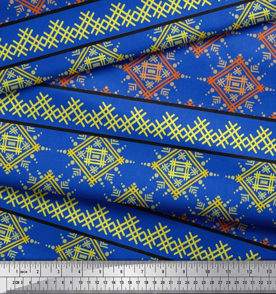 Soimoi-Cotton-Poplin-Fabric-Artistic-Geometric-Fabric-Prints-By-c6Z thumbnail 3
