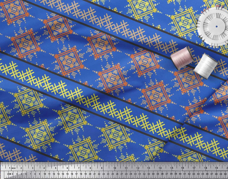 Soimoi-Cotton-Poplin-Fabric-Artistic-Geometric-Fabric-Prints-By-c6Z thumbnail 4