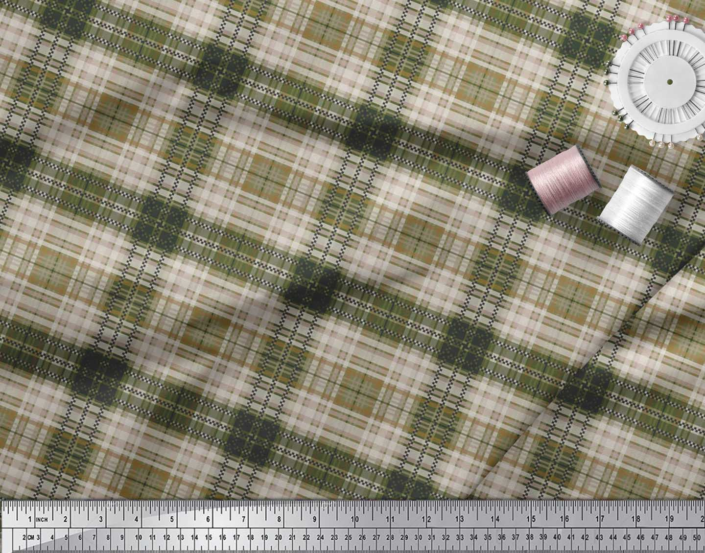 Soimoi-Cotton-Poplin-Fabric-Gingham-Check-Fabric-Prints-By-metre-LDX thumbnail 3