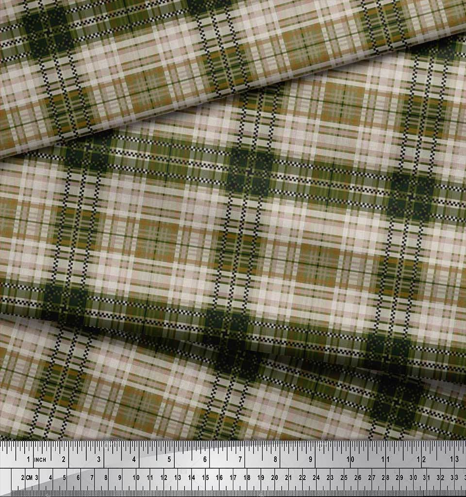 Soimoi-Cotton-Poplin-Fabric-Gingham-Check-Fabric-Prints-By-metre-LDX thumbnail 4
