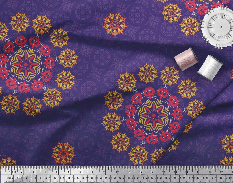 Soimoi-Fabric-Damask-amp-Mandala-Decorative-Print-Sewing-Fabric-BTY-DC-510E thumbnail 6