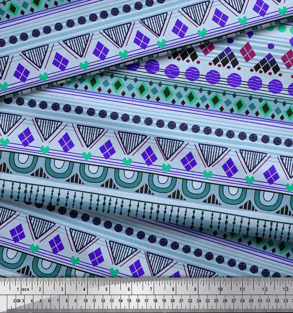 Soimoi-Cotton-Poplin-Fabric-Aztec-Geometric-Decor-Fabric-Printed-tGu thumbnail 3