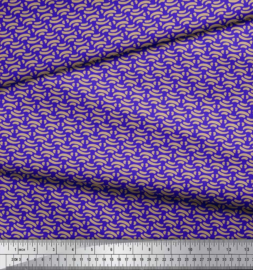Soimoi-Cotton-Poplin-Fabric-Brush-Stroke-Abstract-Print-Sewing-Fabric-dxb thumbnail 4