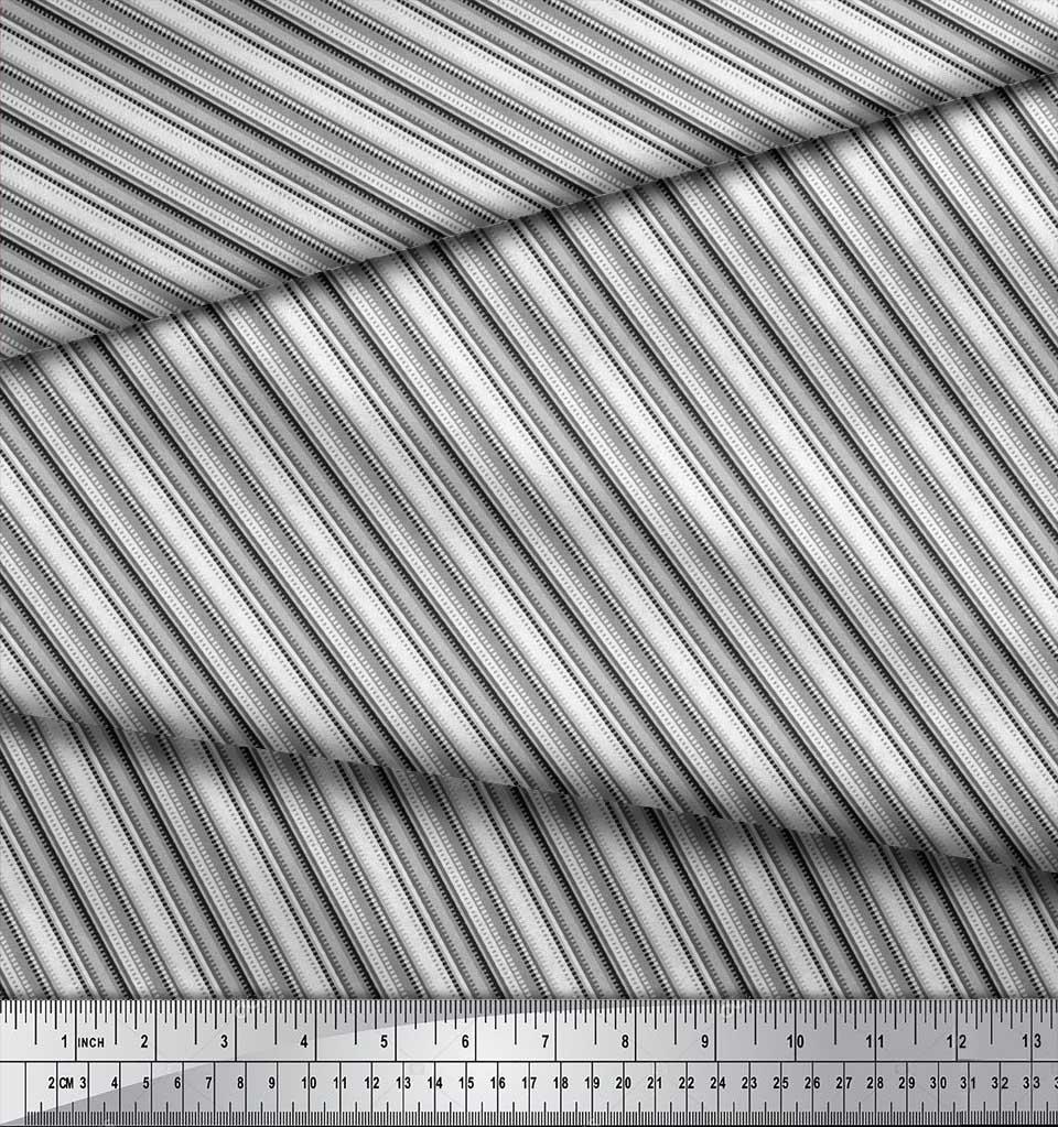 Soimoi-Cotton-Poplin-Fabric-Diagonal-Stripe-Fabric-Prints-By-metre-hZD thumbnail 4