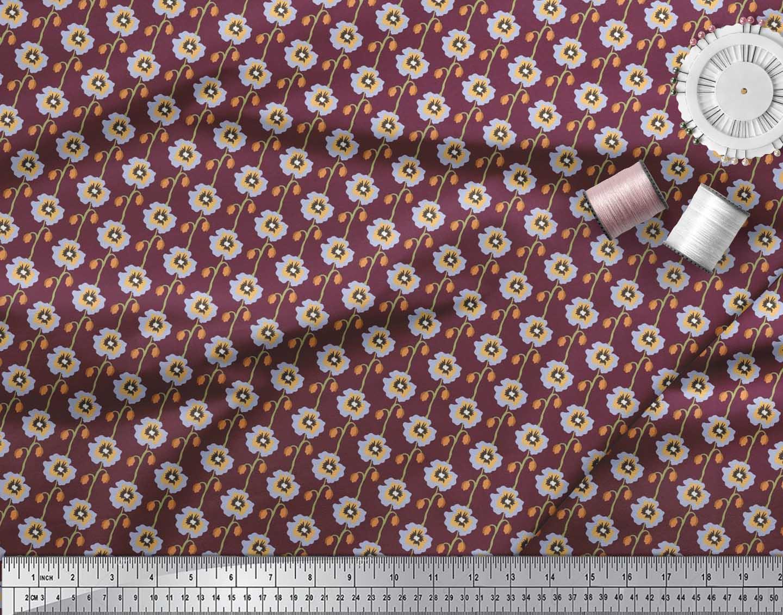 Soimoi-Cotton-Poplin-Fabric-Artistic-Floral-Decor-Fabric-Printed-7E5 thumbnail 3