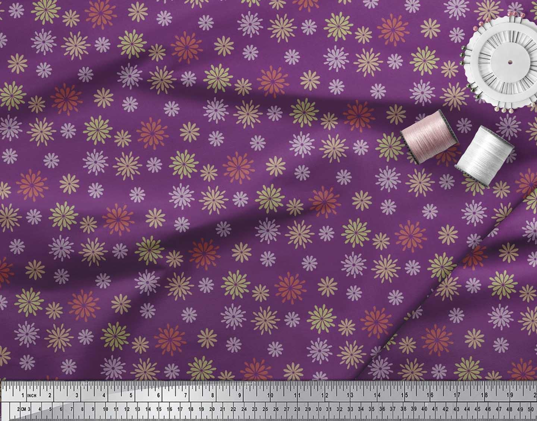 Soimoi-Cotton-Poplin-Fabric-Artistic-Floral-Decor-Fabric-Printed-0TG thumbnail 3