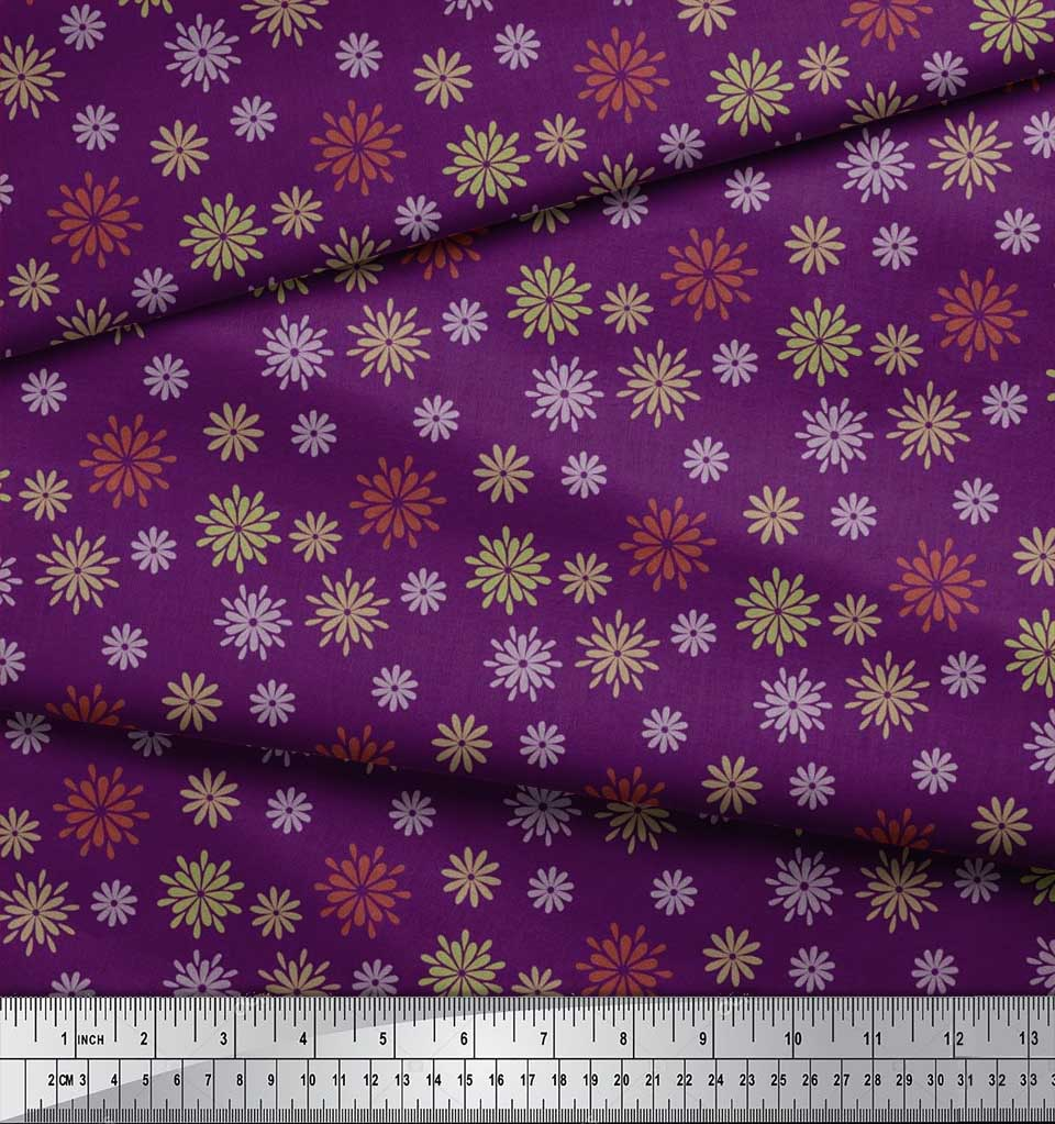 Soimoi-Cotton-Poplin-Fabric-Artistic-Floral-Decor-Fabric-Printed-0TG thumbnail 4