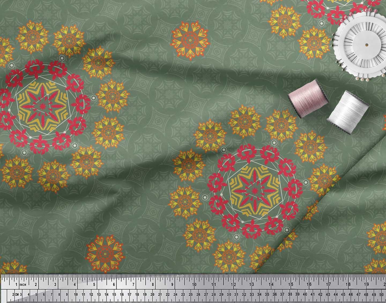 Soimoi-Fabric-Damask-amp-Mandala-Decorative-Print-Sewing-Fabric-BTY-DC-510E thumbnail 3