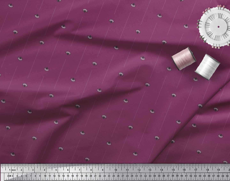 Soimoi-Cotton-Poplin-Fabric-Damask-Block-Fabric-Prints-By-metre-bc8 thumbnail 3