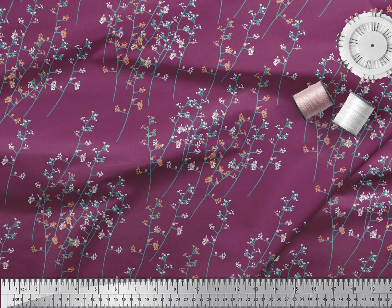 Soimoi-Cotton-Poplin-Fabric-Artistic-Floral-Print-Sewing-Fabric-wRu thumbnail 3
