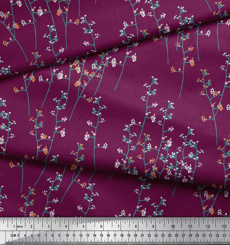 Soimoi-Cotton-Poplin-Fabric-Artistic-Floral-Print-Sewing-Fabric-wRu thumbnail 4