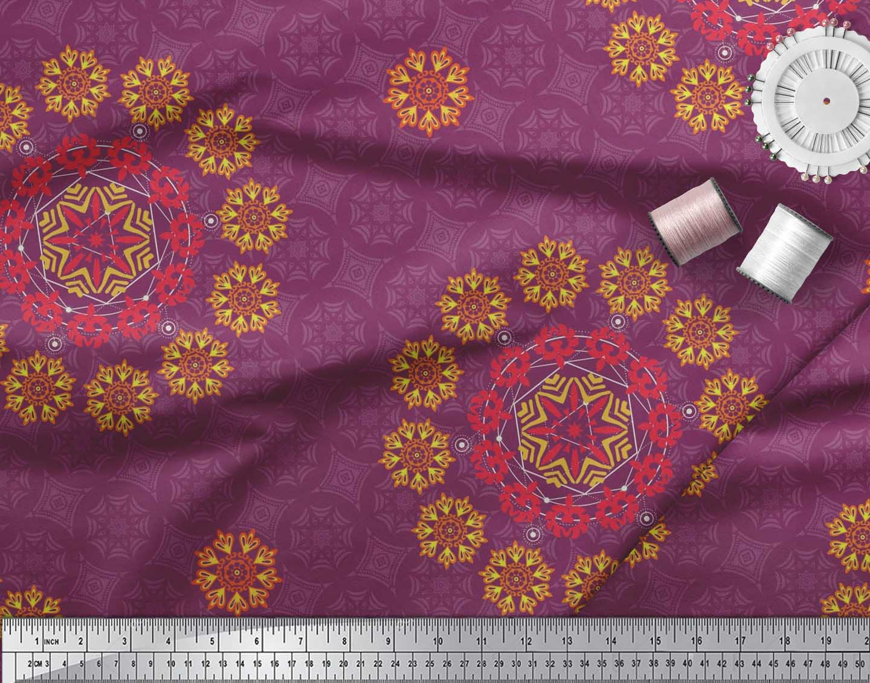 Soimoi-Fabric-Damask-amp-Mandala-Decorative-Print-Sewing-Fabric-BTY-DC-510E thumbnail 24