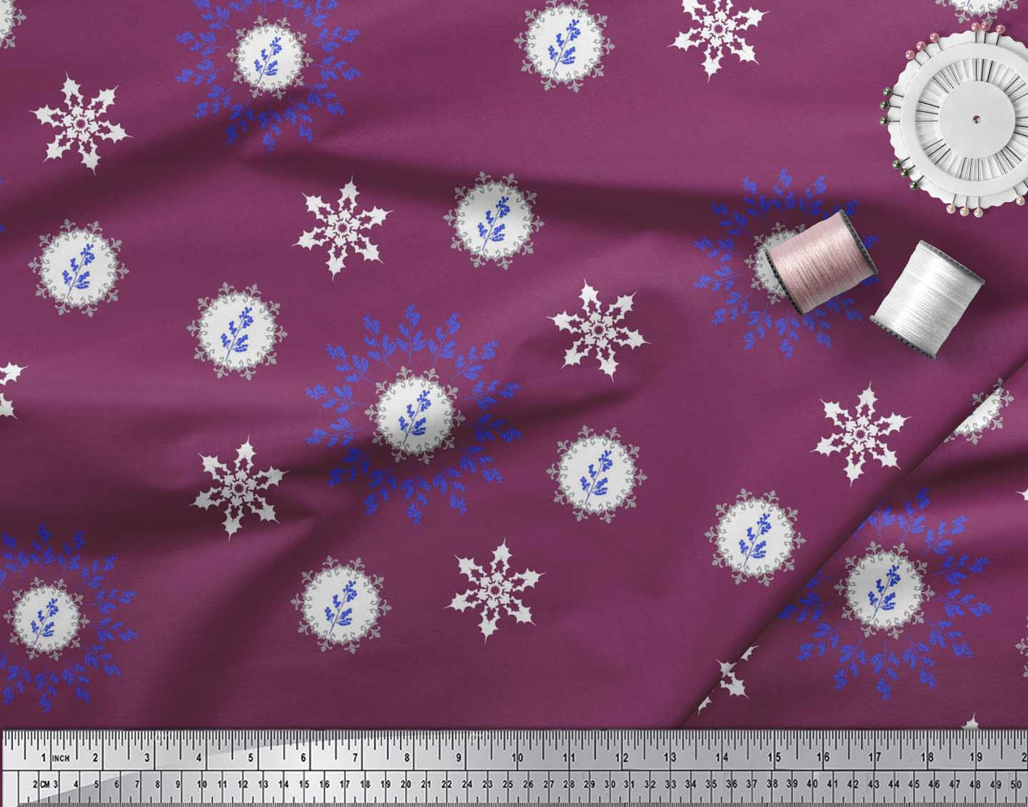 Soimoi-Fabric-Berries-amp-Damask-Decorative-Printed-Craft-Fabric-bty-DC-513A thumbnail 18