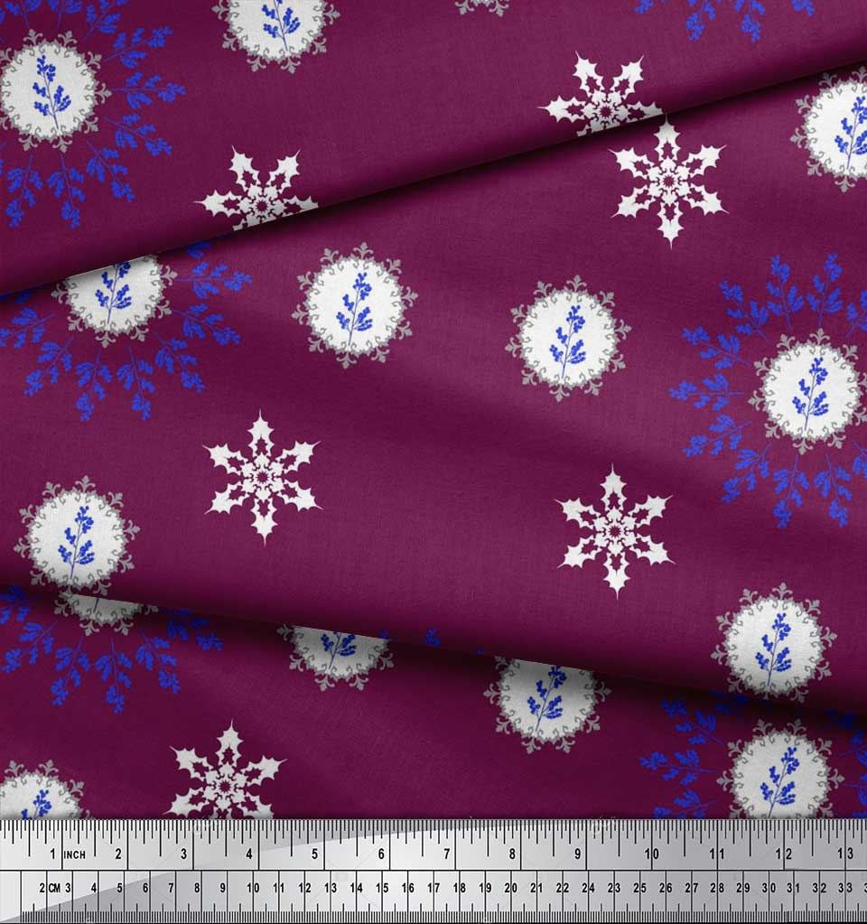 Soimoi-Fabric-Berries-amp-Damask-Decorative-Printed-Craft-Fabric-bty-DC-513A thumbnail 19