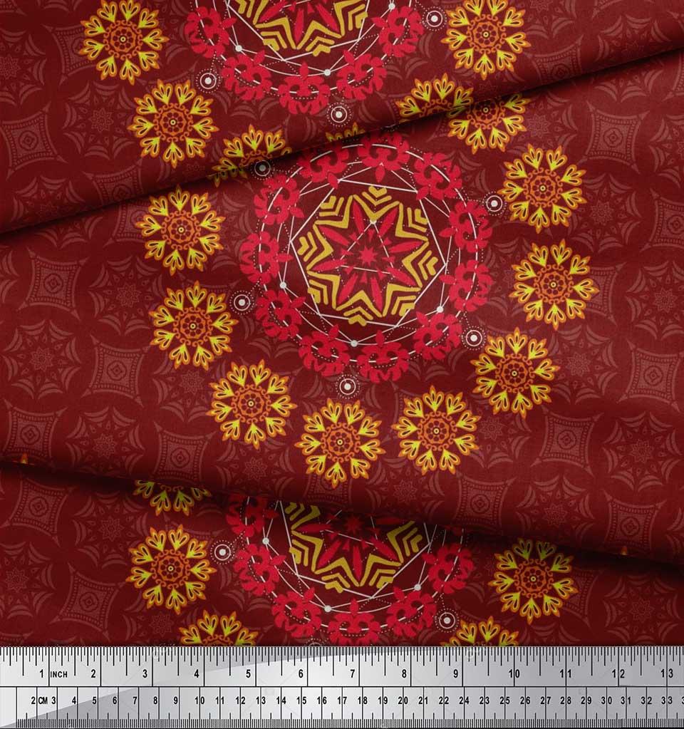 Soimoi-Fabric-Damask-amp-Mandala-Decorative-Print-Sewing-Fabric-BTY-DC-510E thumbnail 27