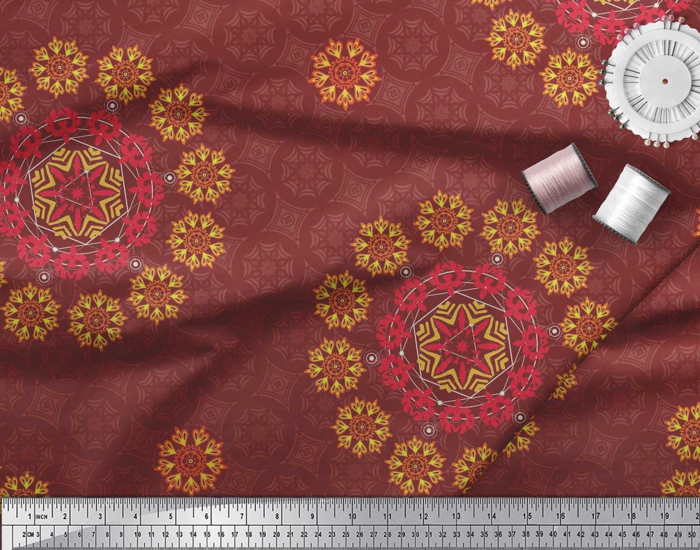 Soimoi-Fabric-Damask-amp-Mandala-Decorative-Print-Sewing-Fabric-BTY-DC-510E thumbnail 28