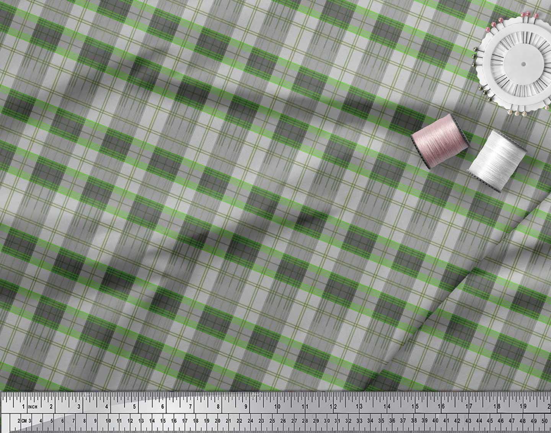 Soimoi-Cotton-Poplin-Fabric-Plaid-Check-Print-Fabric-by-metre-42-N7k thumbnail 4