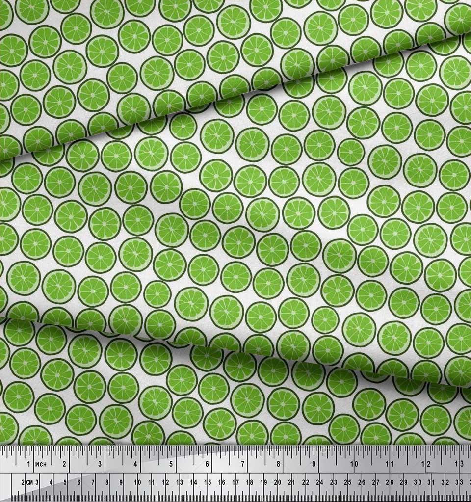 Soimoi-Cotton-Poplin-Fabric-Lemon-Slice-Vegetable-Print-Sewing-Fabric-ixl thumbnail 4