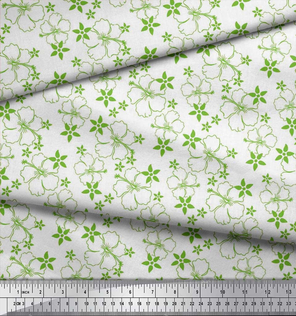 Soimoi-Cotton-Poplin-Fabric-Artistic-Floral-Decor-Fabric-Printed-mfN thumbnail 3