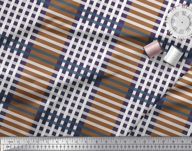 Soimoi-Cotton-Poplin-Fabric-Check-Check-Printed-Fabric-1-metre-42-7Gg thumbnail 3