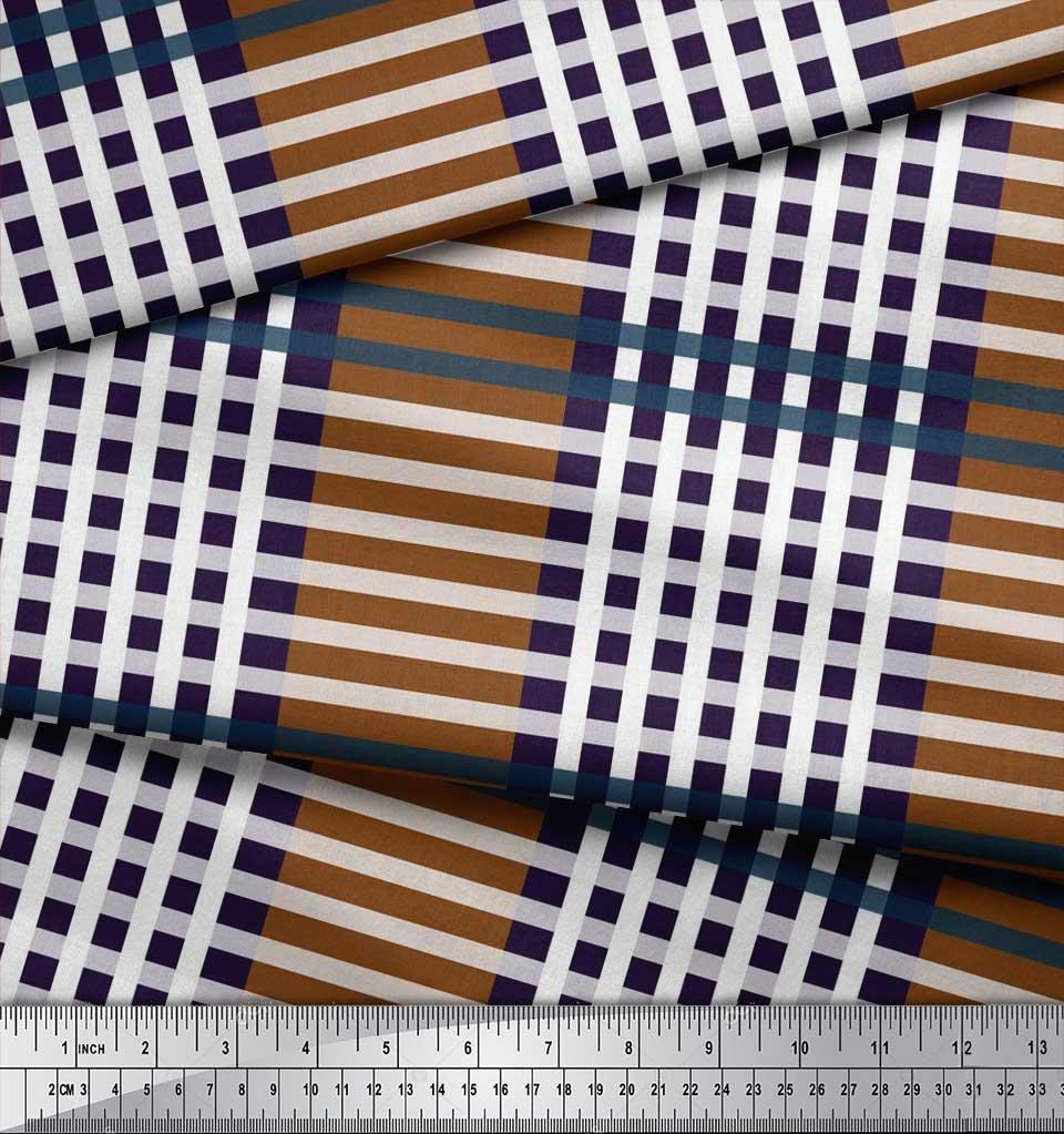 Soimoi-Cotton-Poplin-Fabric-Check-Check-Printed-Fabric-1-metre-42-7Gg thumbnail 4