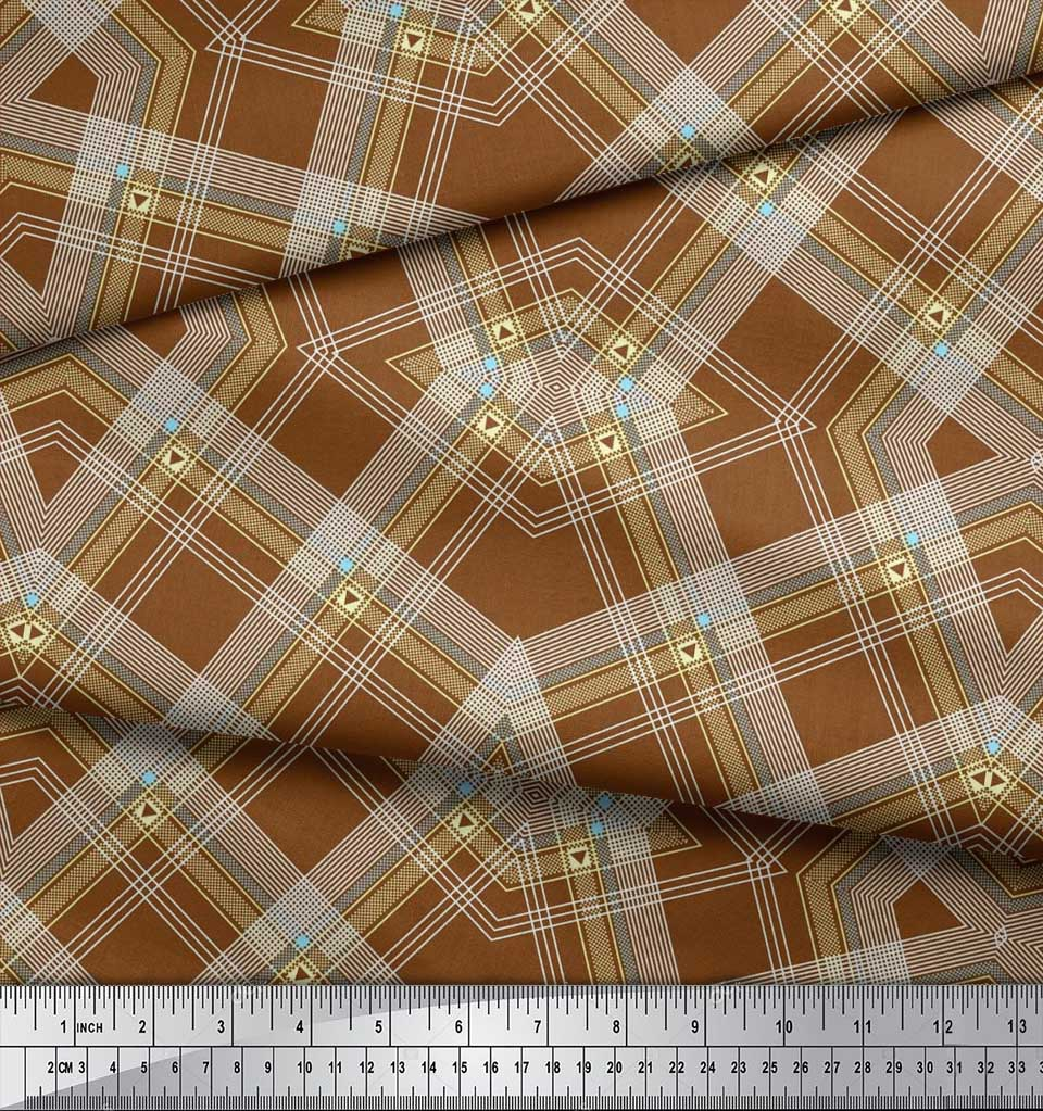 Soimoi-Cotton-Poplin-Fabric-Gingham-Check-Print-Sewing-Fabric-metre-rAF thumbnail 4