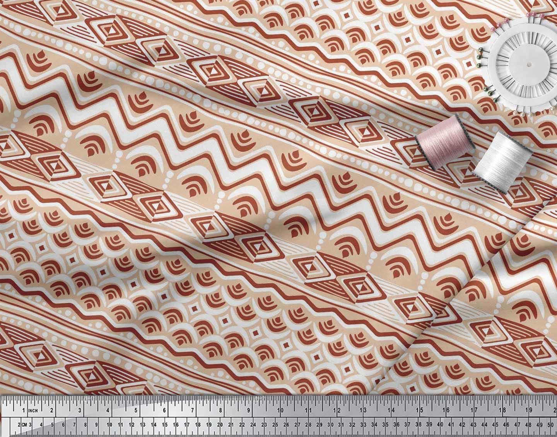 Soimoi-Cotton-Poplin-Fabric-Aztec-Geometric-Decor-Fabric-Printed-dVr thumbnail 3