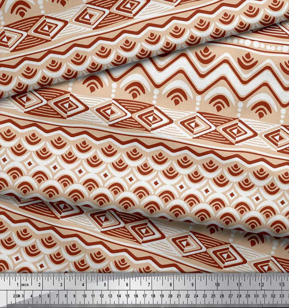 Soimoi-Cotton-Poplin-Fabric-Aztec-Geometric-Decor-Fabric-Printed-dVr thumbnail 4