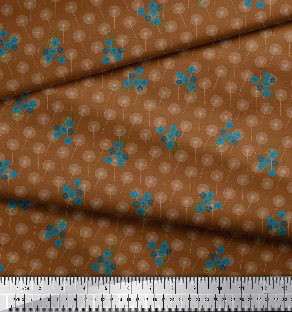 Soimoi-Cotton-Poplin-Fabric-Artistic-Floral-Fabric-Prints-By-metre-rQp thumbnail 4