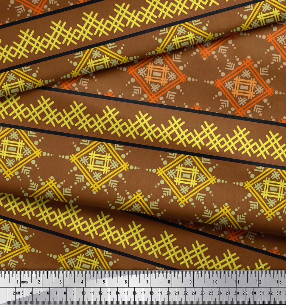 Soimoi-Cotton-Poplin-Fabric-Artistic-Geometric-Print-Sewing-Fabric-0cw thumbnail 3