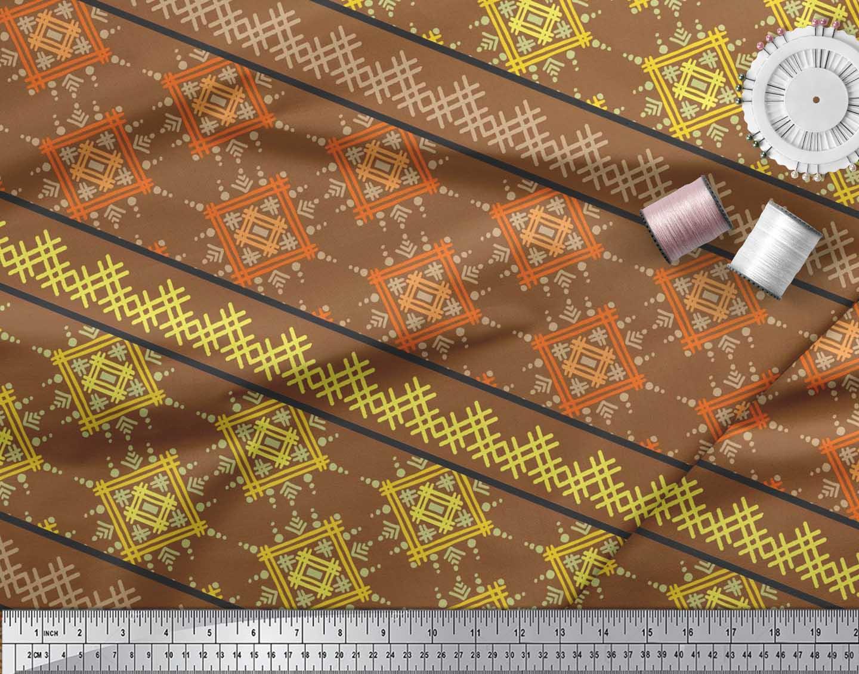 Soimoi-Cotton-Poplin-Fabric-Artistic-Geometric-Print-Sewing-Fabric-0cw thumbnail 4