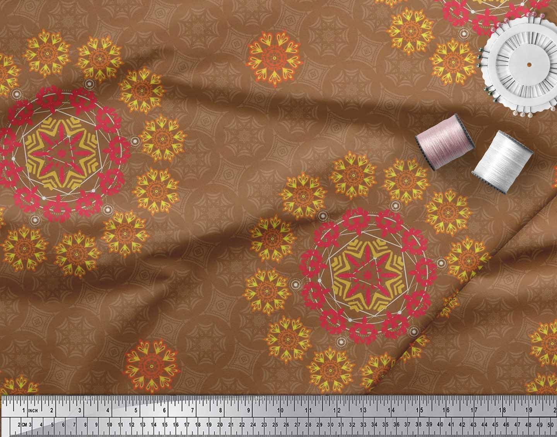 Soimoi-Fabric-Damask-amp-Mandala-Decorative-Print-Sewing-Fabric-BTY-DC-510E thumbnail 10