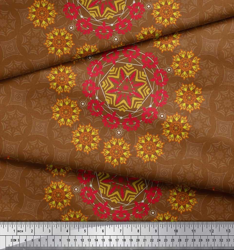 Soimoi-Fabric-Damask-amp-Mandala-Decorative-Print-Sewing-Fabric-BTY-DC-510E thumbnail 9