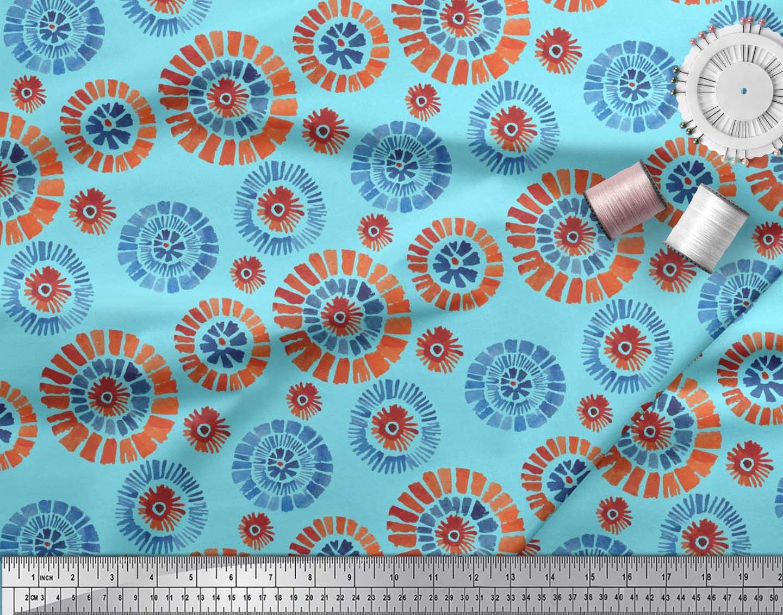Soimoi-Cotton-Poplin-Fabric-Brush-Stroke-Abstract-Decor-Fabric-Printed-D8K thumbnail 4