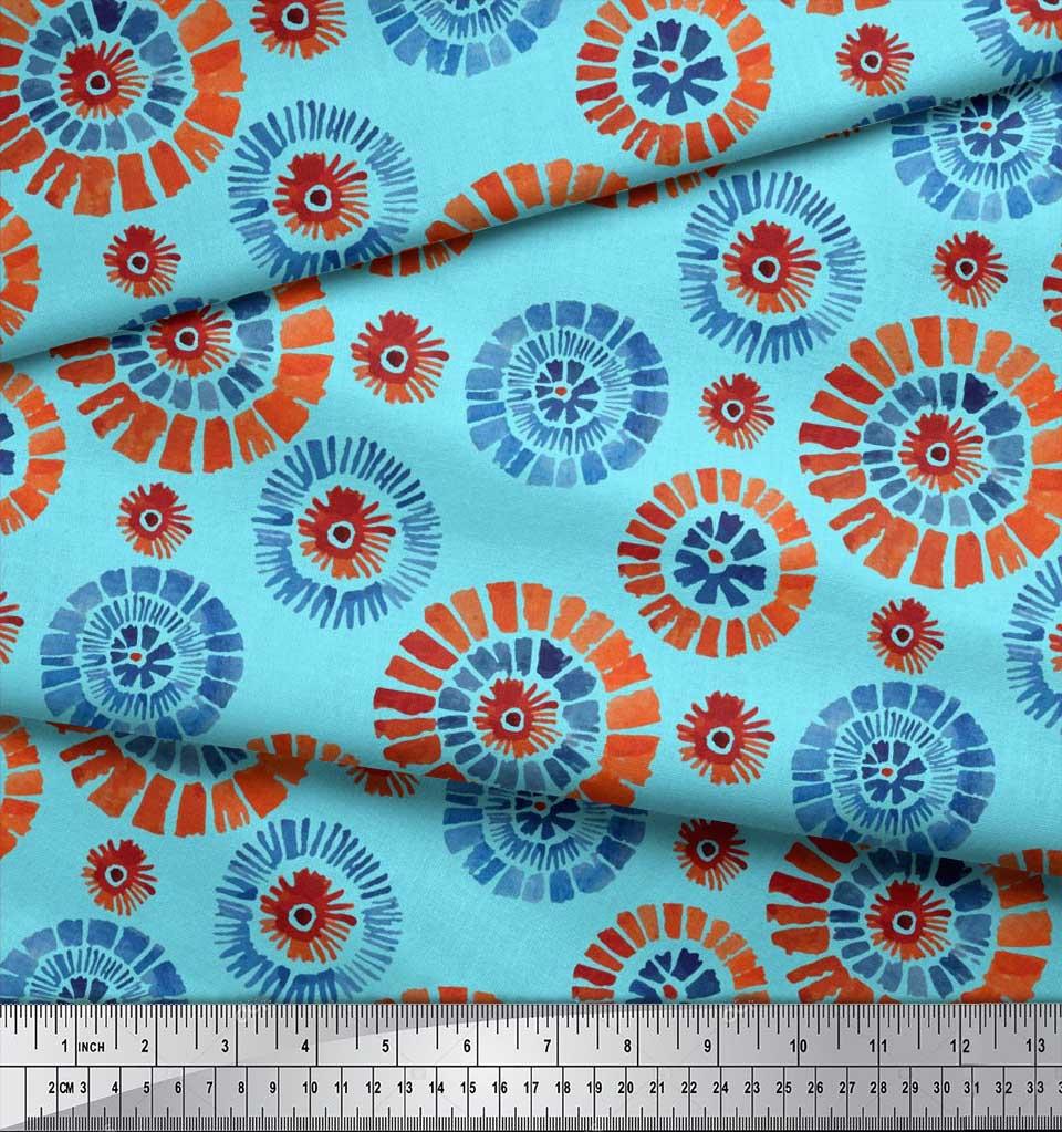 Soimoi-Cotton-Poplin-Fabric-Brush-Stroke-Abstract-Decor-Fabric-Printed-D8K thumbnail 3