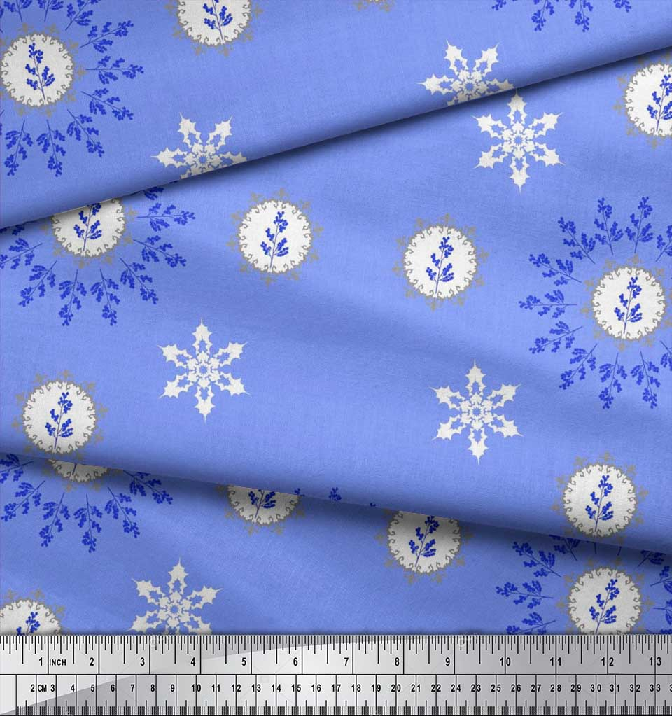 Soimoi-Fabric-Berries-amp-Damask-Decorative-Printed-Craft-Fabric-bty-DC-513A thumbnail 30