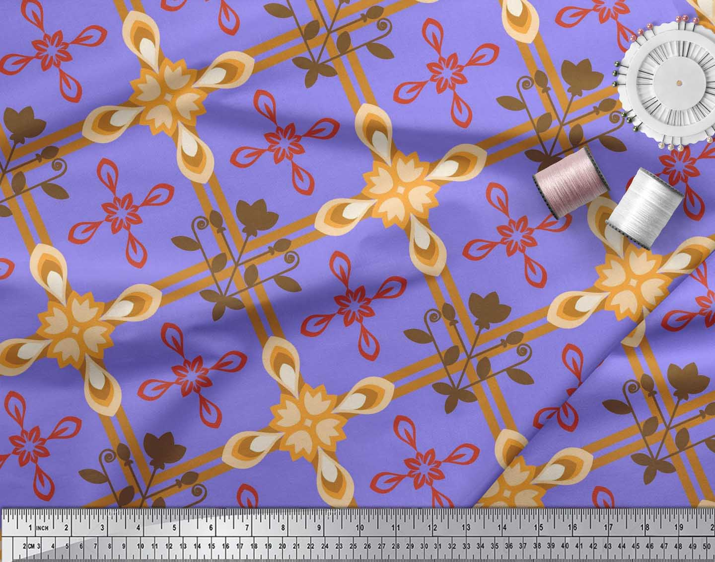 Soimoi-Cotton-Poplin-Fabric-Argyle-Check-Decor-Fabric-Printed-metre-L5P thumbnail 4