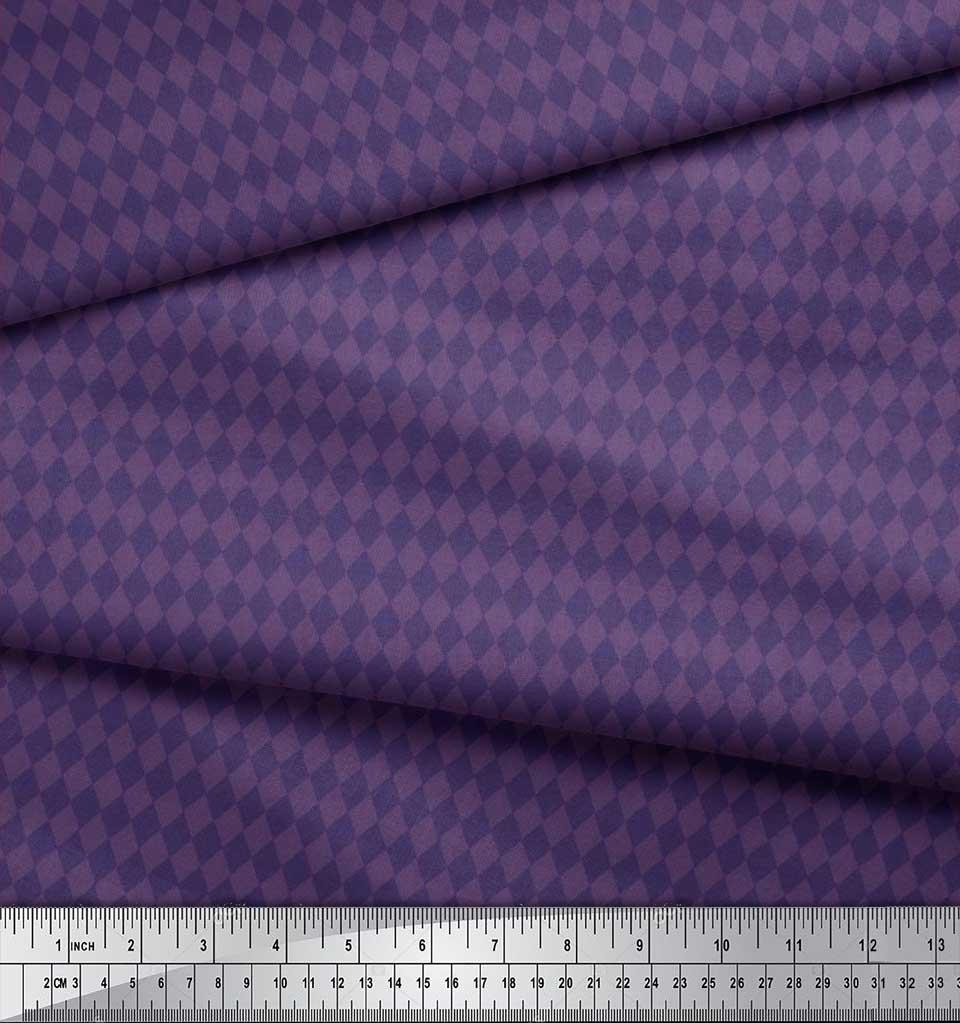 Soimoi-Cotton-Poplin-Fabric-Argyle-Check-Print-Sewing-Fabric-metre-nqr thumbnail 3