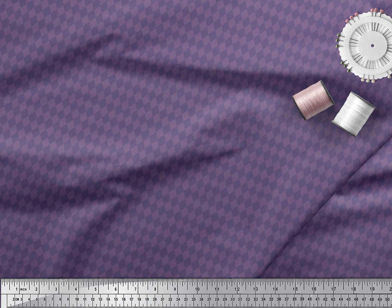 Soimoi-Cotton-Poplin-Fabric-Argyle-Check-Print-Sewing-Fabric-metre-nqr thumbnail 4