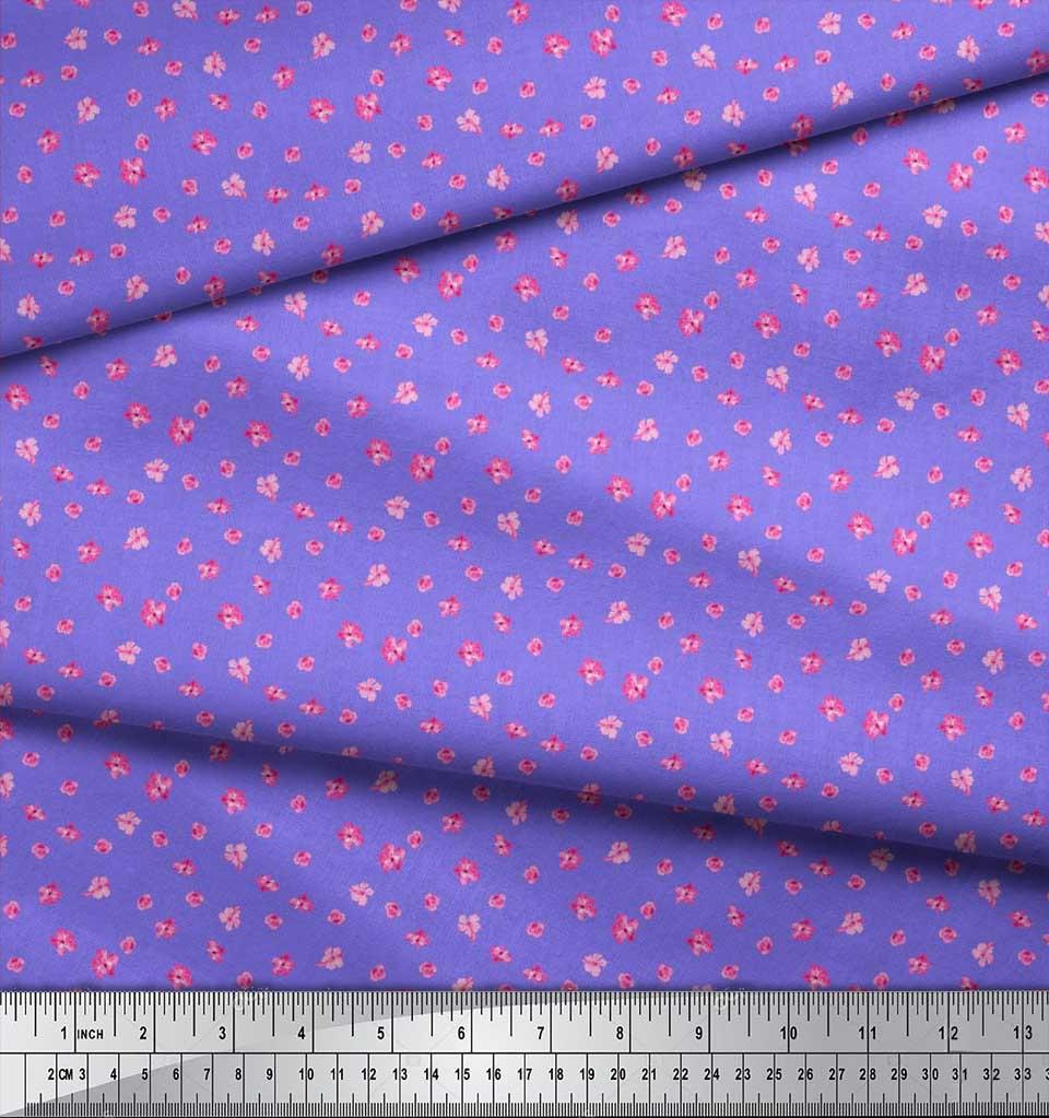 Soimoi-Cotton-Poplin-Fabric-Artistic-Floral-Print-Sewing-Fabric-qF2 thumbnail 3