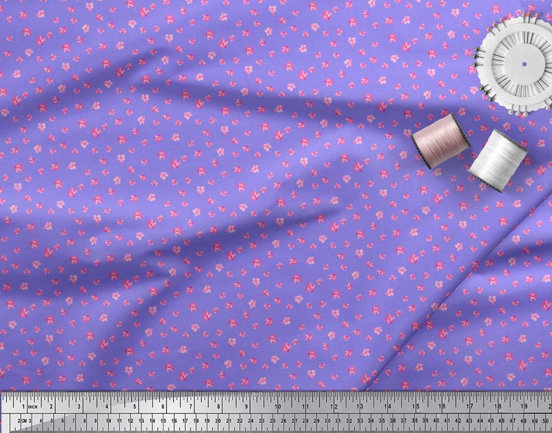 Soimoi-Cotton-Poplin-Fabric-Artistic-Floral-Print-Sewing-Fabric-qF2 thumbnail 4