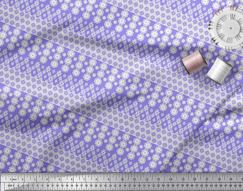 Soimoi-Cotton-Poplin-Fabric-Artistic-Floral-Printed-Fabric-1-metre-FvP thumbnail 3