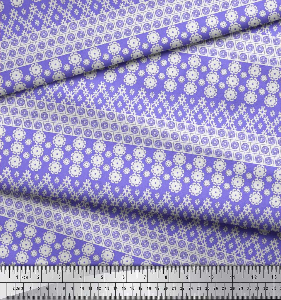 Soimoi-Cotton-Poplin-Fabric-Artistic-Floral-Printed-Fabric-1-metre-FvP thumbnail 4