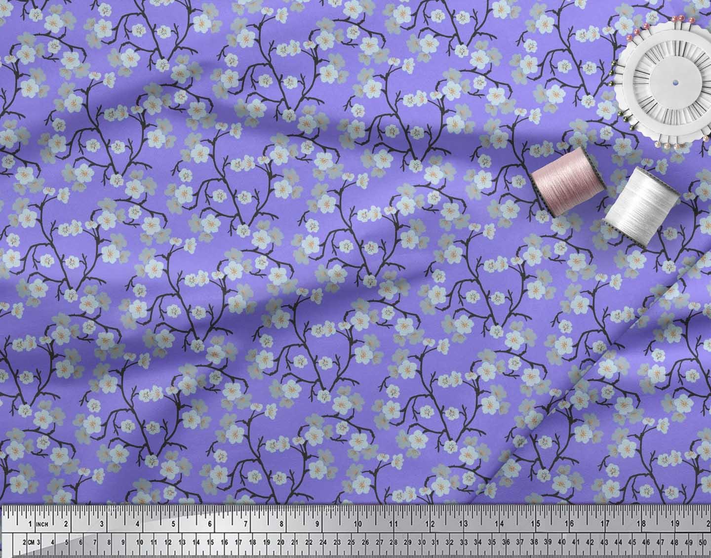 Soimoi-Cotton-Poplin-Fabric-Blossom-Floral-Print-Sewing-Fabric-metre-eNQ thumbnail 4