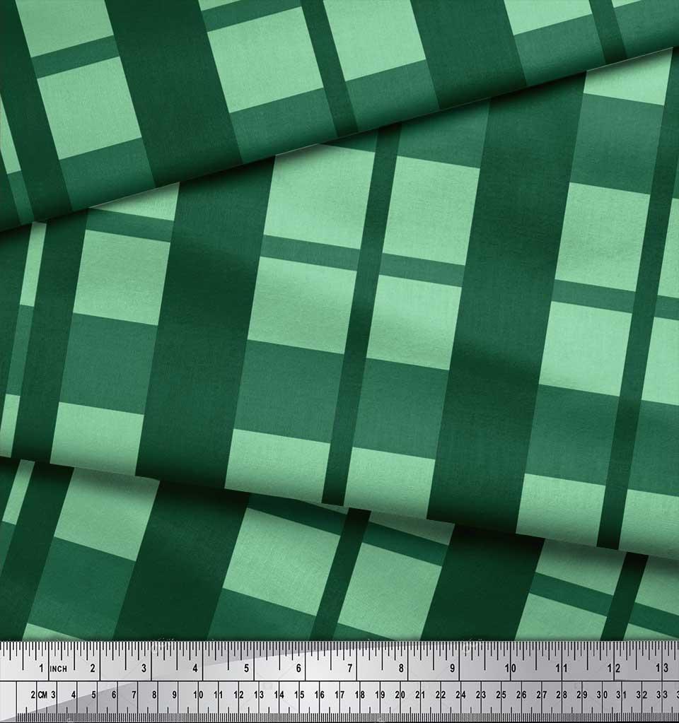 Soimoi-Cotton-Poplin-Fabric-Check-Check-Print-Sewing-Fabric-metre-AhK thumbnail 3